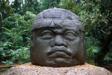 Giant Olmec Head at La Venta Park Photographic Print by Danny Lehman