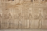 Ancient Egyptian Sunken Relief Depicting Offerings and Tributes Brought to the Goddess Hathor Photographic Print