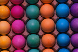 Rainbow-Colored Easter Eggs Fotografisk trykk av Philip James Corwin