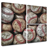 Baseballs Gallery-Wrapped Canvas Stretched Canvas Print by David Liam Kyle
