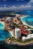 Hotels in Cancun Photographic Print by Bob Krist