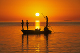Fishing at Sunset in Gulf of Mexico Photographic Print by Buddy Mays