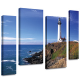 Pigeon Point Lighthouse 4 piece gallery-wrapped canvas Stretched Canvas Print by Kathy Yates