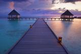 Pier at Island Hideaway at Dhonakulhi in Haa Alifu Atoll Photographic Print by Frank Krahmer