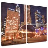 Chicago- The Bean I Gallery-Wrapped Canvas Posters by Dan Wilson