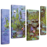 Sea Roses 4 piece gallery-wrapped canvas Print by Claude Monet