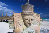Sculpture on Mexican Beach Photographic Print by Macduff Everton