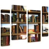 Story World 4 piece gallery-wrapped canvas Stretched Canvas Print by Cynthia Decker