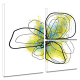 Citron Petals II Gallery-Wrapped Canvas Gallery Wrapped Canvas Set by Jan Weiss