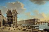The Quai De La Greve and the Ile St. Louis from the Place De Greve by Nicolas Raguenet Photographic Print
