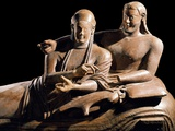 Detail of Etruscan Sarcophagus of the Spouses Photographic Print
