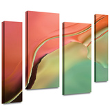 Flow Abstract I 4 piece gallery-wrapped canvas Stretched Canvas Print by Cora Niele