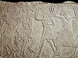 Ancient Egyptian Bas-Relief Depicting Farewell to the Deceased Photographic Print