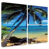 Beautiful Smini Beach Gallery-Wrapped Canvas Stretched Canvas Print by Kathy Yates