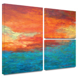 Lake Reflections II Gallery-Wrapped Canvas Stretched Canvas Print by Herb Dickinson