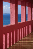 Bright Pink Railing and Ocean View Photographic Print by Macduff Everton