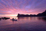 Sea Kayaking at Dusk Photographic Print by Michael Deyoung