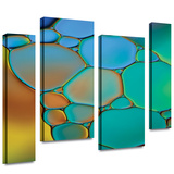 Connected II 4 piece gallery-wrapped canvas Stretched Canvas Print by Cora Niele