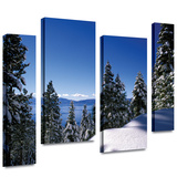 Lake Tahoe in Winter 4 piece gallery-wrapped canvas Gallery Wrapped Canvas by Kathy Yates