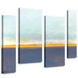 Big Country Sky I 4 piece gallery-wrapped canvas Stretched Canvas Print by Jan Weiss