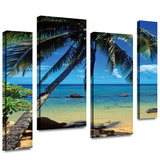 Beautiful Smini Beach 4 piece gallery-wrapped canvas Gallery Wrapped Canvas by Kathy Yates