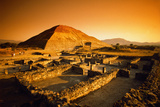 Teotihuacan's Pyramid of the Sun Fotografisk tryk af Randy Faris