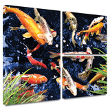 Koi Gallery-Wrapped Canvas Gallery Wrapped Canvas Set by George Zucconi