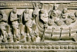 Etruscan Bas-Relief of a Sarcophagus Depicting Ulysses Photographic Print