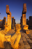 Chac-Mool Statue at the Temple of Warriors Ruins Photographic Print by Bob Krist