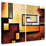 Abstract Modern Gallery-Wrapped Canvas Gallery Wrapped Canvas Set by Jim Morana