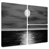 Moon Rising Gallery-Wrapped Canvas Gallery Wrapped Canvas Set by Jim Morana