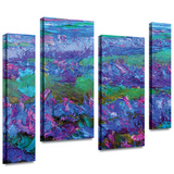 Charlits Floral 4 piece gallery-wrapped canvas Gallery Wrapped Canvas Set by Susi Franco