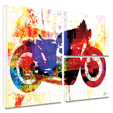 Moto III Gallery-Wrapped Canvas Stretched Canvas Print by Greg Simanson