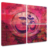 Om Mandala Gallery-Wrapped Canvas Gallery Wrapped Canvas Set by Elena Ray