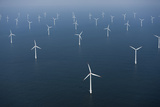 Wind Farm in Ocean Photographic Print by Cameron Davidson