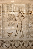 Ancient Egyptian Sunken Relief Depicting Man Carrying Offerings to the Goddess Hathor Photographic Print