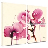 Orchids I Gallery-Wrapped Canvas Stretched Canvas Print by Karin Johanneson