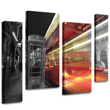 London III 4 piece gallery-wrapped canvas Stretched Canvas Print by Revolver Ocelot