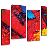 Passionate Explosion 4 piece gallery-wrapped canvas Stretched Canvas Print by Byron May