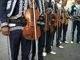 Mariachi Violin Players Line Up Photographic Print by  xPacifica