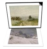 Environs de Honfleur, neige & Vue de plaine a Argenteuil, coteaux de Sannois Set Poster by Claude Monet