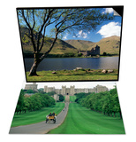 Long Walk and Windsor Castle, England & Loch Awe and Ruins of Kilchurn Castle, Scotland Set Posters by Adam Woolfitt