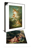 The Music Lesson & The Target of Love, 1758 Set Posters by Francois Boucher