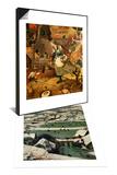 Return of the Hunters, Detail & Dulle Griet, 1562-1566 Set Poster by Pieter Bruegel the Elder