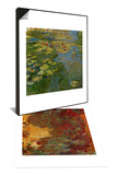 The Artist's House in Giverny Seen from the Rose Garden, 1922-1924 & Waterlilies, 1917-1919 Set Prints by Claude Monet