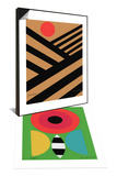 Single Butterfly/Medium with Flower & Cultivate with Red Sun Set Prints by Jerry Kott