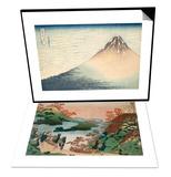 Sarumaru Daiyu & Vent frais par matin clair ou Le Fuji rouge Set Prints by Katsushika Hokusai