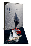 "Sy ""Adele"", 180 Foot Hoek Design, French Polynesia & Sy ""Adele"" at the Superyacht Cup Palma Set Art by Rick Tomlinson"