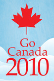 Go Canada 2010 (Winter Olympics, Blue) Sports Poster Print Prints