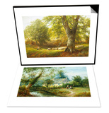 Cottage in Derbyshire & Sunshine in the Country Set Posters by George Turner